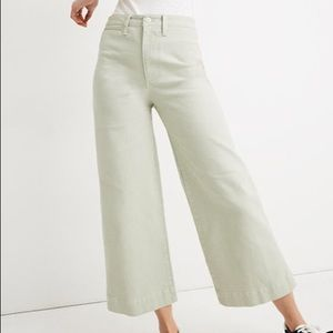 Madewell Emmett Wide-Leg Crop Pants in Sea Haze